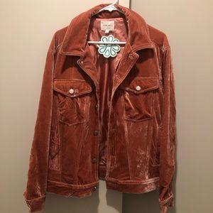 Salmon-colored Velvet Jacket